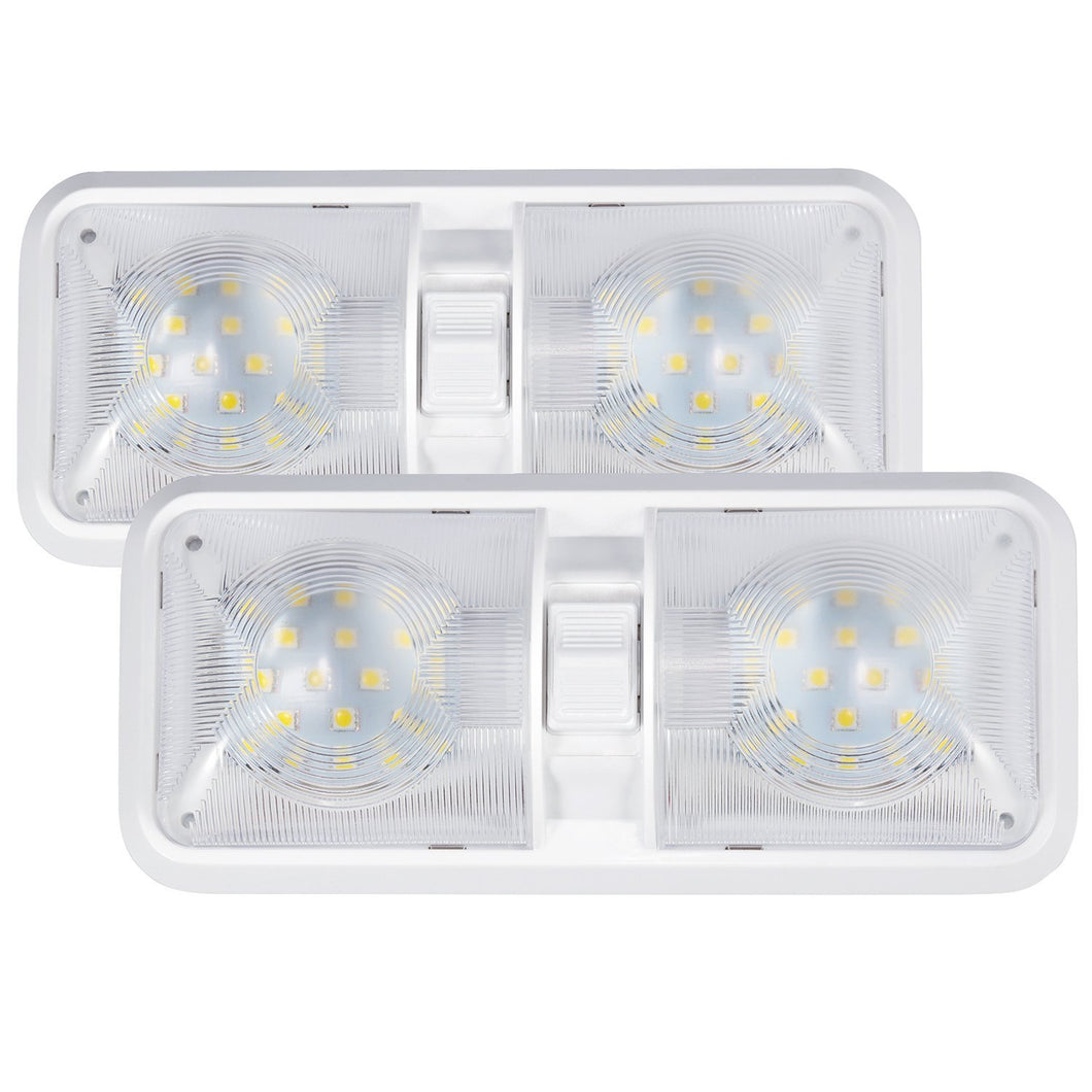 Kohree 12V Led RV Ceiling Dome Light RV Interior Lighting for Trailer Camper with Switch, White(Pack of 2) - kohree