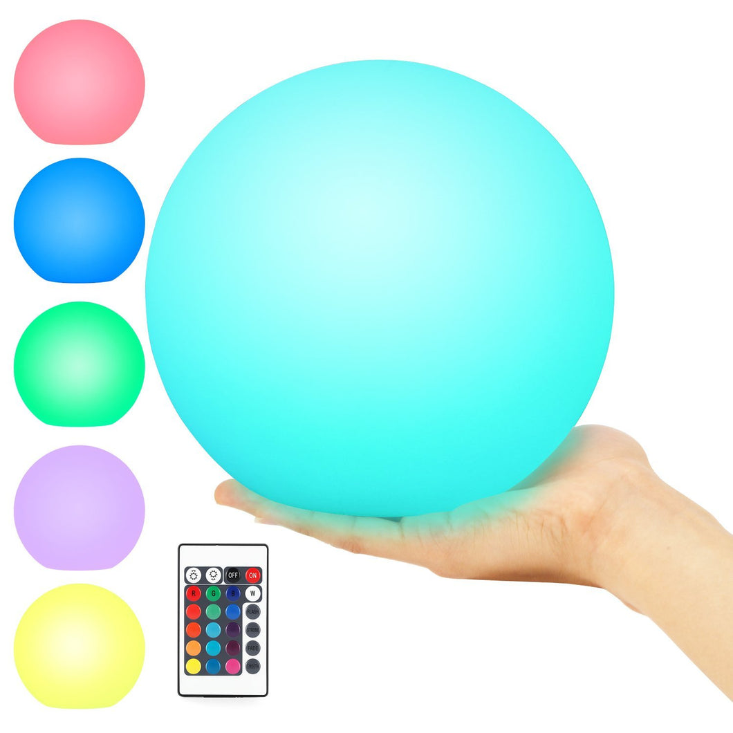 Pool Light, LED Light Ball 8-inch, IP68 Waterproof, Remote Control, Rechargeable, RGB 16 Colors Changing, Kohree Wireless Glow Globe Ball Light Cordless Mood Night Light Floating Orb, Pond Decor Light