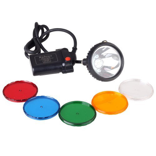 Waterproof CREE XML U2 10W LED 800 Lumens 2-Mode Hunting Light Headlamp 6600mAh Mining Headlight Lamp for Hog, Coon, Coyote, Fox Hunting
