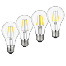 A19 LED Bulb Dimmable, Kohree 6W Edison Vintage LED Filament Light Bulb, 60W Equivalent Bulb, 4000K Daylight (Neutral White), E26 Base for Restaurant,Home,Reading Room,Office, Pack of 4