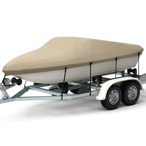 Kohree Trailerable Runabout Boat Cover Fit V-Hull Tri-Hull Fishing Ski Pro-Style Bass Boats,Heavy Duty 600D Polyester 14''~16''x68''