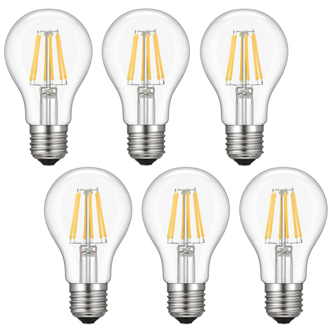 LED Edison Bulb, Kohree 6W Vintage LED Filament Light Bulb, 2700K Soft White, 60W Incandescent Equivalent, E26 Medium Base Lamp for Restaurant,Home,Reading Room,Office, Pack of 6 - kohree