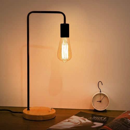 Kohree Industrial Table Lamp, Dimmable Night Stand Desk Lamp for Bedroom, Living Room, Office, Coffee Shop, Dorm
