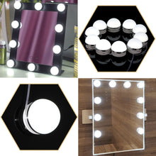 Hollywood Vanity Mirror Light Kit, Kohree Make-up Light, Dimmable Light Bulb Lighting Fixture Strip Makeup Vanity Table Set (10 bulbs Adhesive) for Dressing Room, Dimmer Switch, UL Listed