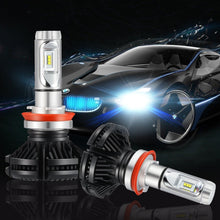 Kohree H11 (H8, H9) LED Headlight Bulbs All-in-One Conversion Kit, 6000 Lumen (6000K Cool White) DIY 3 Color Temperature Films WhiteGold Ice Blue