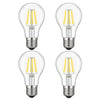 Kohree 6W Edison Vintage LED Filament Dimmable Light Bulb, 60W Equivalent Bulb, 4000K Daylight (Neutral White), E26 Base,A19,  Pack of 4