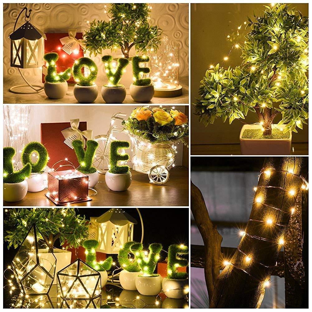 Kohree String Lights Led Copper Wire Fairy Christmas Light With Tree In Addition Wiring Remote Control 66ft 20m