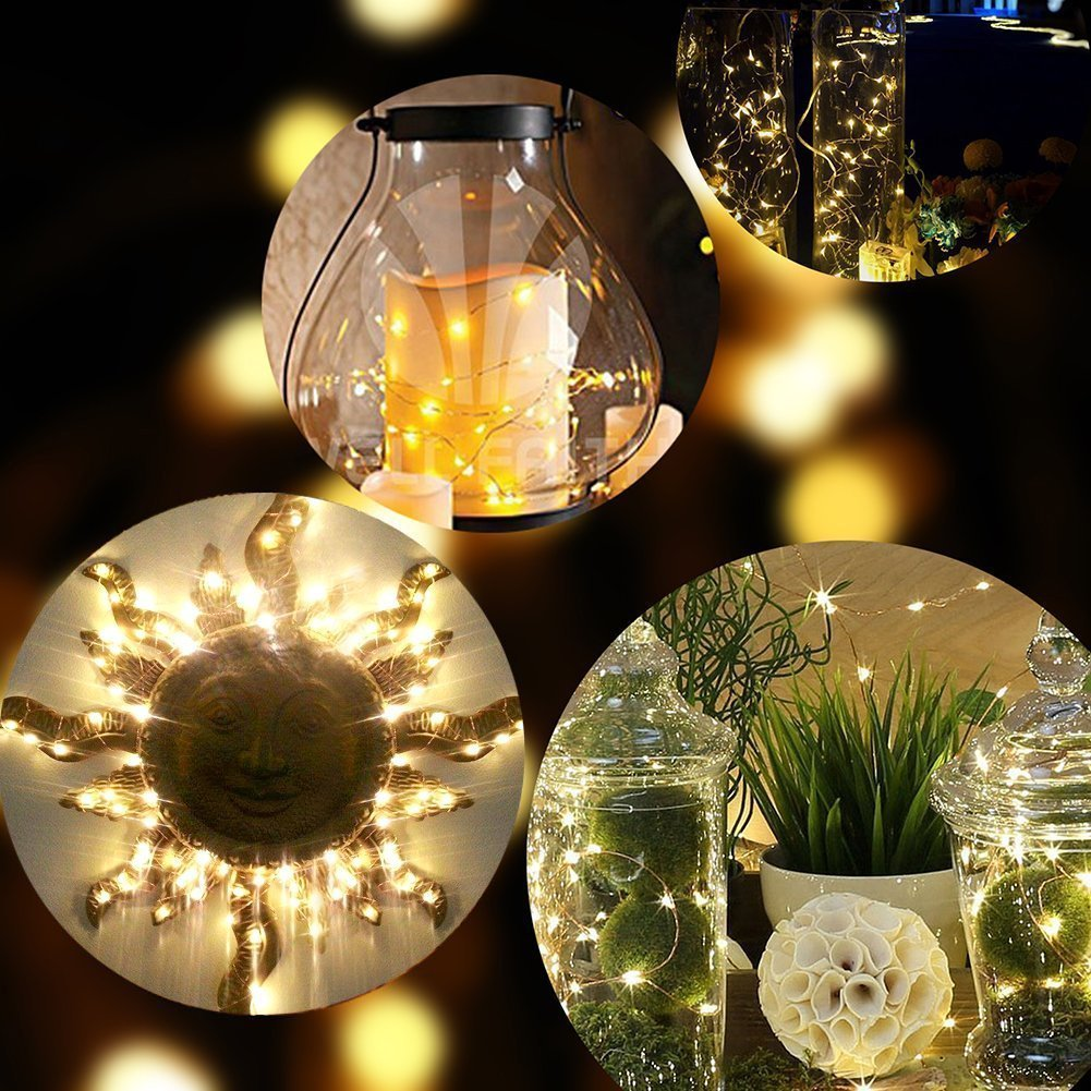 timeless design cc10d c0ff2 Kohree 12 Pack LED String Lights Copper Wire Lights, Battery Operated  Starry Fairy Lights, Decor Rope Lights For Seasonal Decoration Home  ,Holiday, ...