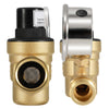 Kohree RV Brass Lead-Free Adjustable Water Pressure Reducer with Gauge and Inlet Screened Filter - kohree
