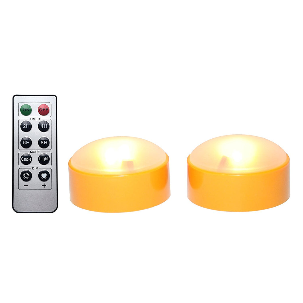 Kohree Flameless Candles LED Battery Operated Candles Unscented Remote Candles with Timer Halloween Pumpkin Lights Jack-O-Lantern Light Candles for Pumpkins