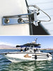 "Kohree 4 PCS Boat Quick Release Pin 1/4"" Diameter Bimini Top Pins w/Drop Cam & Spring, Usable Length 1"", Full 316 Stainless Steel Pontoon Removable Hinge Pins Marine Hardware Replacement Parts - kohree"