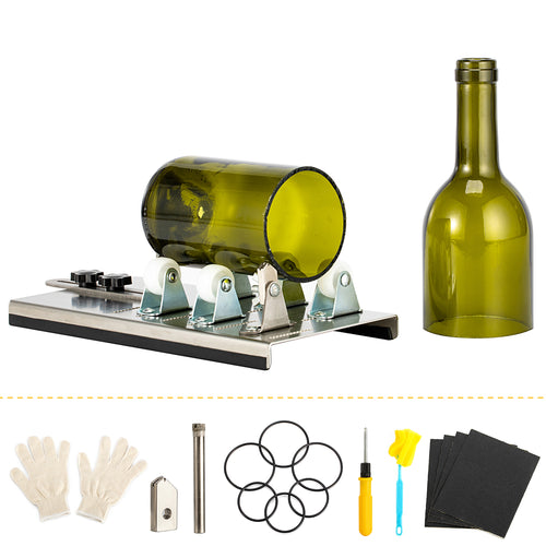 Kohree Glass Bottle DIY Cutting Machine with Adjustable Track-System Wine Bottle Cutter Tool Kit