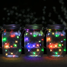 Solar Mason Jar Lid - Kohree 3 Pack Mason Jar Lights with 10 LED,Color Changing Fairy String Light for Glass Mason Jars and Garden Decor, Multi-color