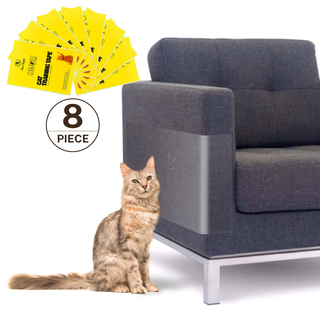 Kohree 8pcs Clear Double-Sided Anti Cat Scratch Tapes 17 Inches L x 12 Inches W Furniture Protector