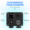 Kohree 12V Car Charger Socket Panel, 4 in 1 Waterproof Cell Phone Rocker Switch for RV Marine Boat Camper Truck Automotive - kohree