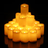 Kohree LED Votive Unscented Battery Powered Candles Set of 24, with Remote Control Timer
