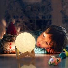 Moon Lamp, Kohree 3D Printing Moon Light Night Light Dimmable Rechargeable, Warm White & Cool White& Soft White, 5.1 Inch Lunar Light Valentine Gifts Birthday Presents Home Decorative Lights