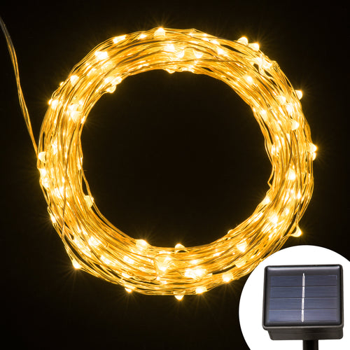 Solar Powered String Light, Kohree 120 Micro LEDs Light String With 20ft Long Ultra Thin String Copper Wire, Seasonal Decor Rope Light For Weddings, Garden, Patio, Tree, Party - kohree