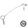 Kohree Bimini Top Quick Release Pin 1/4 inch Diameter w/Lanyard Prevents Loss, Full 316 Stainless Steel, Bimini Top Pin, Boat Marine Hardware with 4 Installation Screws (4 Pack) - kohree