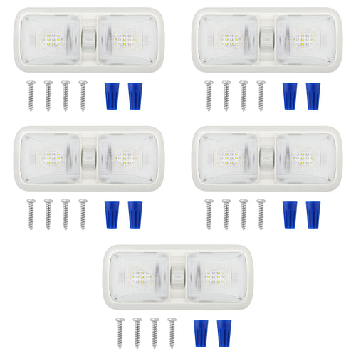 5 Pack Upgraded Led RV Ceiling Double Dome Light, RV Interior Lightning with ON/Off Switch - kohree