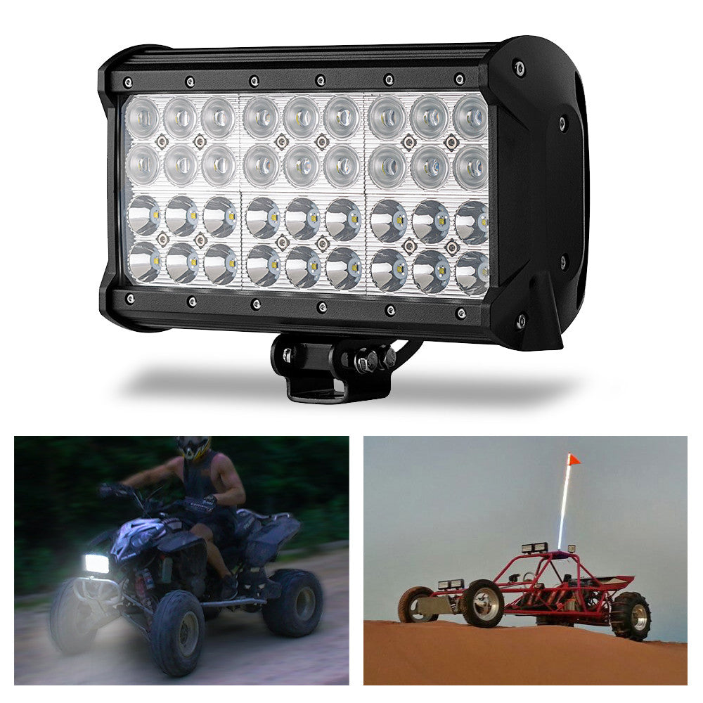 Kohree 108W Cree LED Spot/Flood Work Light Bar for Off-road Truck Car ATV SUV Jeep Lamp Combo beams