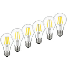LED Edison Bulb, Kohree 6W Vintage LED Filament Light Bulb, 2700K Soft White, 60W Incandescent Equivalent, E26 Medium Base Lamp for Restaurant,Home,Reading Room,Office, Pack of 6