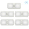 5 Packs Kohree 12V Led 4000-4500K 700 Lumen Natural Light Frosted Cover RV Ceiling Double Dome Light - kohree
