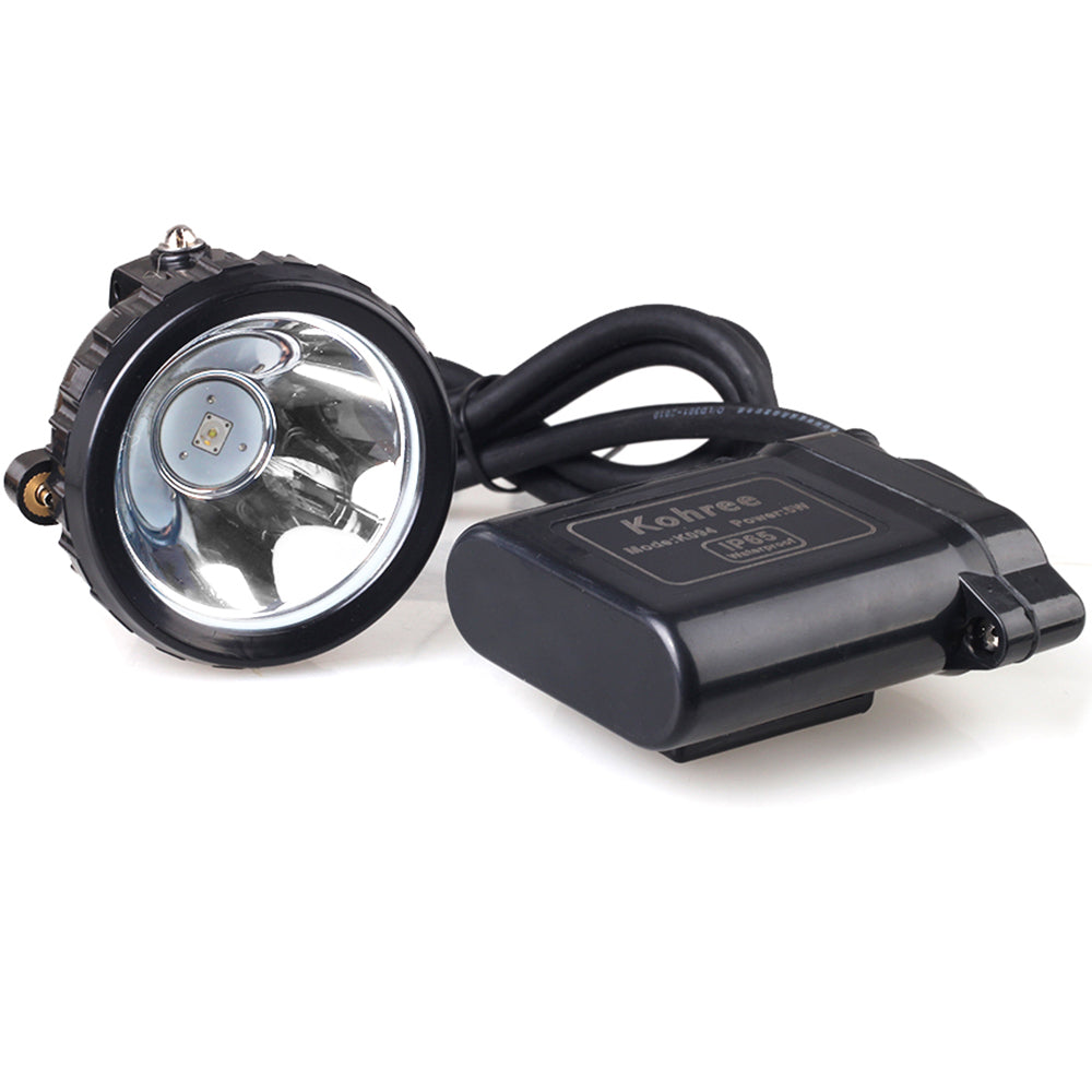 5W KL6LM Waterproof IP65 LED Miner Headlamp with Smart Charger & Car Charger, Fit for Hog/deer/coon/coyote Hunting,Mining,Camping etc - kohree