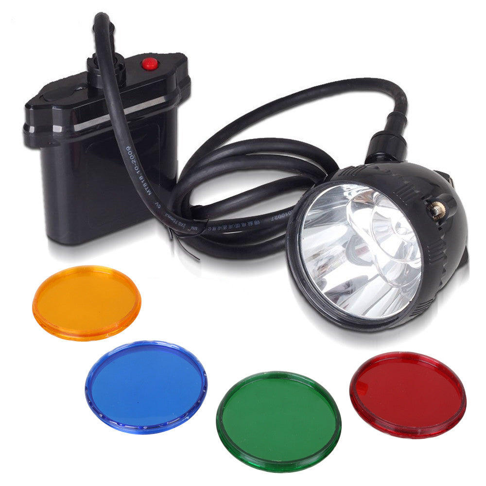 80000Lux Cree XML U2 LED Coyote Hunting Light K111Lm Mining Headlamp Lighting 20Hours with 4 Optical Filters, 10W, 11000 mAh