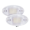 2 Pack LED Ceiling Porch Light Fixture 12V RV Interior and Exterior Lighting for Trailer/Camper/Boat with On/Off Switch and Removable Lens, White