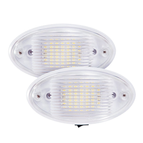 Kohree 2 Pack LED Ceiling Porch Light Fixture 12V RV Interior And Exterior  Lighting For Trailer