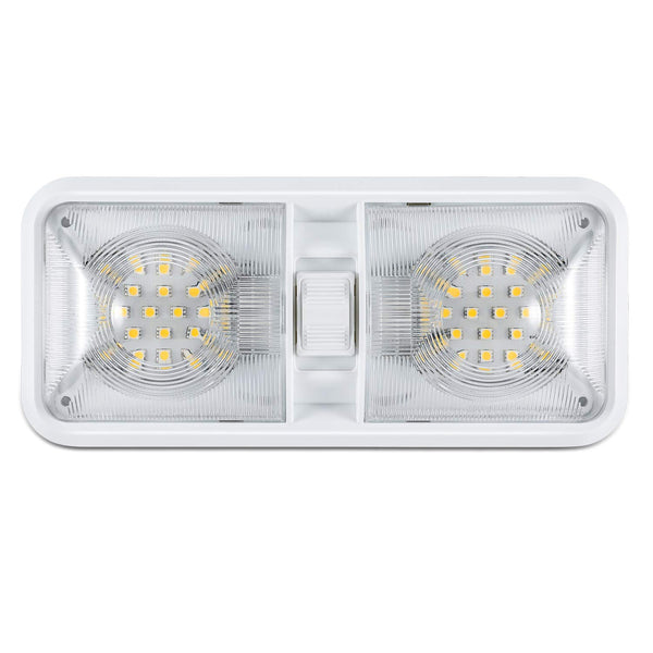 12V Led RV Ceiling Dome Light RV Interior Lighting for Trailer Camper with Switch, White 600 Lumens