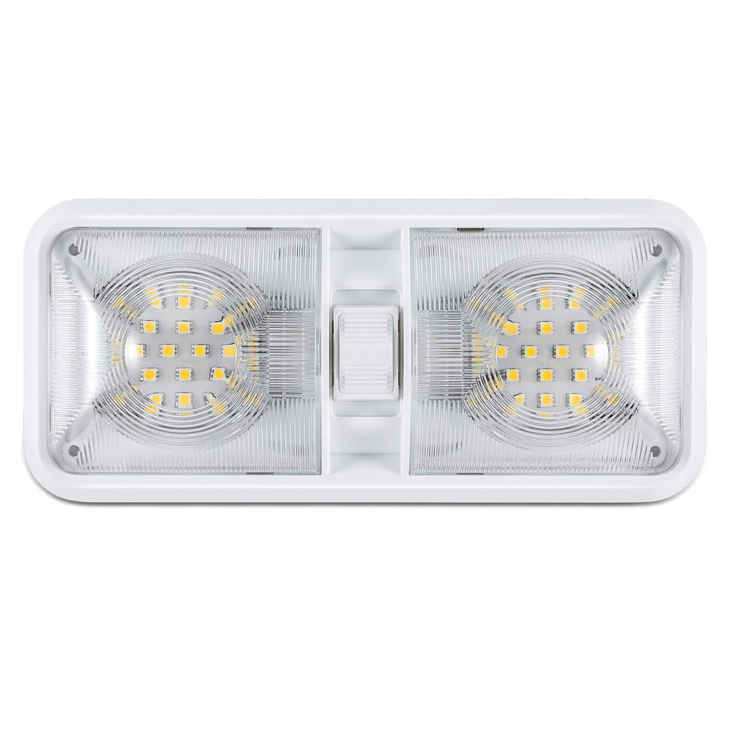 12V Led RV Ceiling Dome Light RV Interior Lighting for Trailer Camper with Switch, White 600 Lumens - kohree