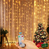 Kohree 300 LED Window Curtain Lights, String Light, Icicle Light, Wedding Light Remote Control Outdoor Indoor Decoration for Bedroom, Garden, Warm White, 8 Mode, UL Certified 9.8 Foot x 9.8 Foot x12 Strands
