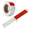 "Kohree 2""x 50ft Reflective Safety Tape, DOT C2 Red White Waterproof Reflector Tape for Trailers, RV, Camper, Boat"