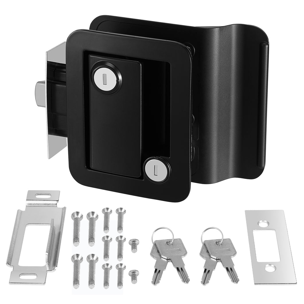 Kohree RV Travel Trailer Entry Door Lock with Paddle Deadbolt Fits Camper, Travel - kohree