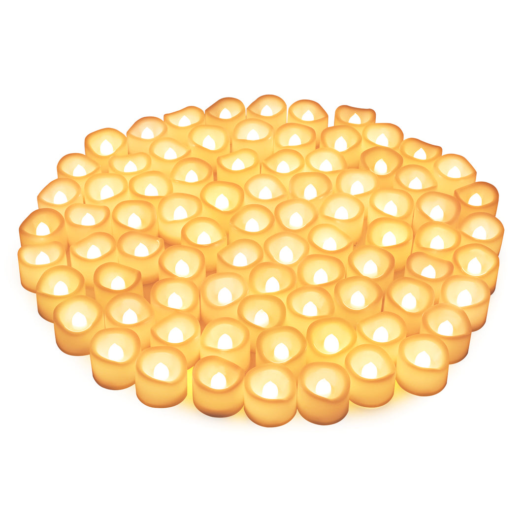 Kohree LED Tea Lights Candles, Kohree Flameless Candles Battery Operated LED Candles, Flickering Tealight Candles, Warm White(80 Packs)