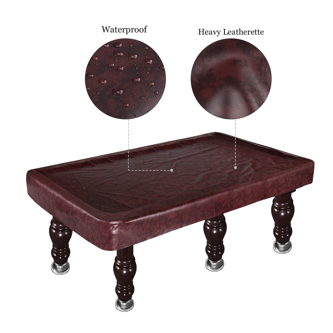 Kohree 8 Foot Fitted Waterproof & UV ProtectionHeavy Duty Leatherette Billiard Pool Table Cover
