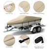 Kohree Trailerable Runabout Boat Cover Fit V-hull Tri-hull Fishing Ski Pro-style Bass Boats ,Heavy Duty 600D Polyester - kohree