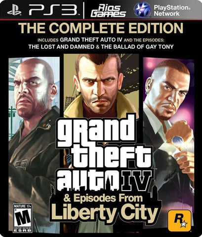 RiosGames PS3 Grand Theft Auto IV: Complete Edition