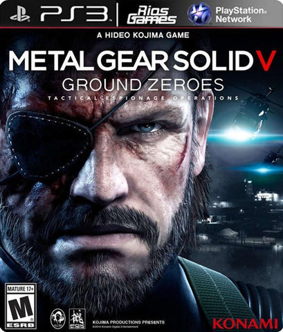 RiosGames PS3 Metal Gear Solid V Ground Zeroes