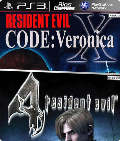 RiosGames PS3 Resident Evil Code Veronica x + Resident Evil 4