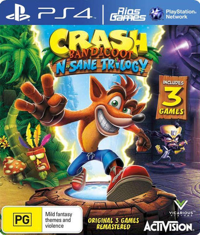 RiosGames PS4 Crash Bandicoot N. Sane Trilogy