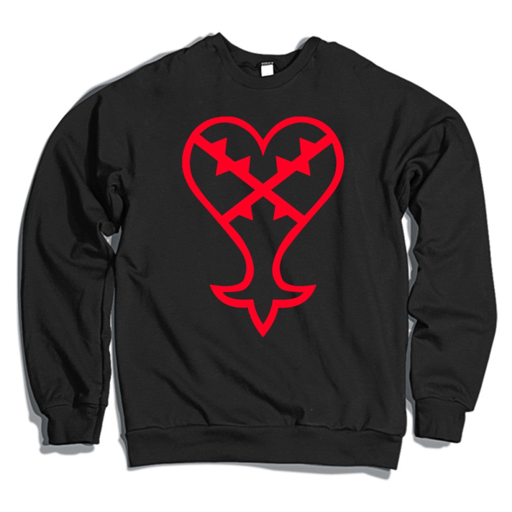 Heartless Logo Red Kingdom Hearts Crewneck Sweatshirt Hoodiego