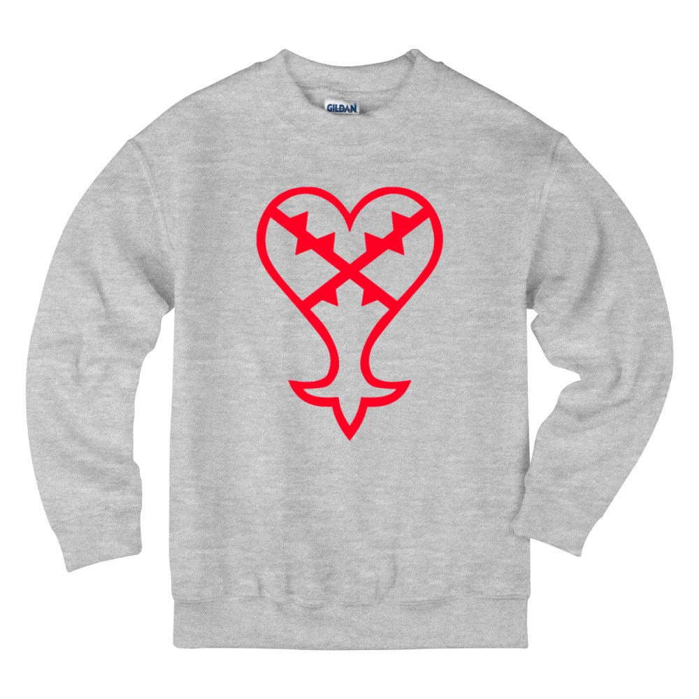 Heartless Logo Red Kingdom Hearts Kids Sweatshirt Hoodiego