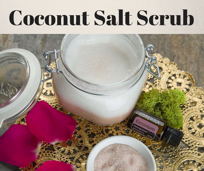 DIY Coconut Salt Scrub - Use Your Favorite doTERRA Essential Oils