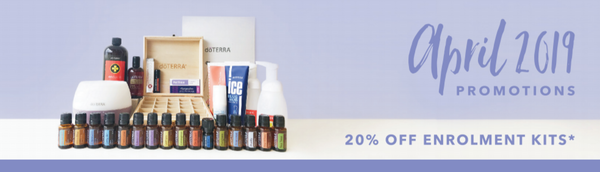 doTERRA April Promotion 20% Off Enrolment Kits