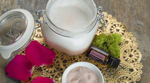 doTERRA DIY Coconut Salt Scrub Essential Oils