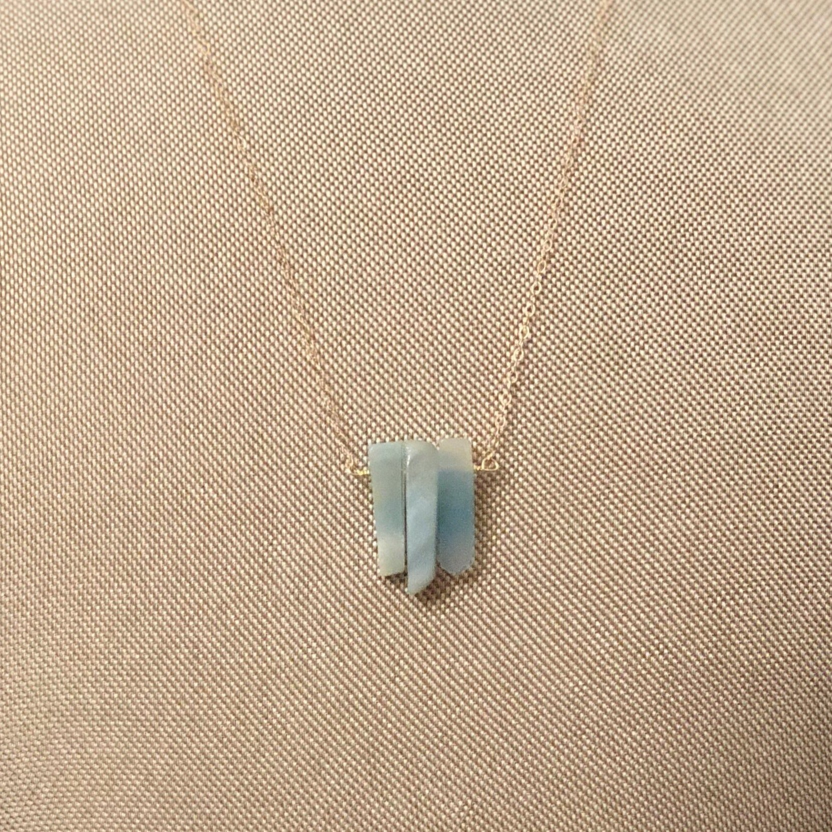 Amazonite 3 slice necklace