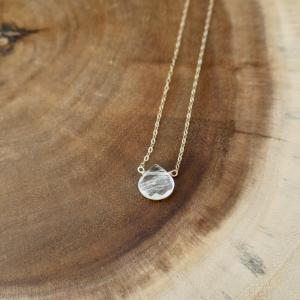 Crystal Quartz drop necklace